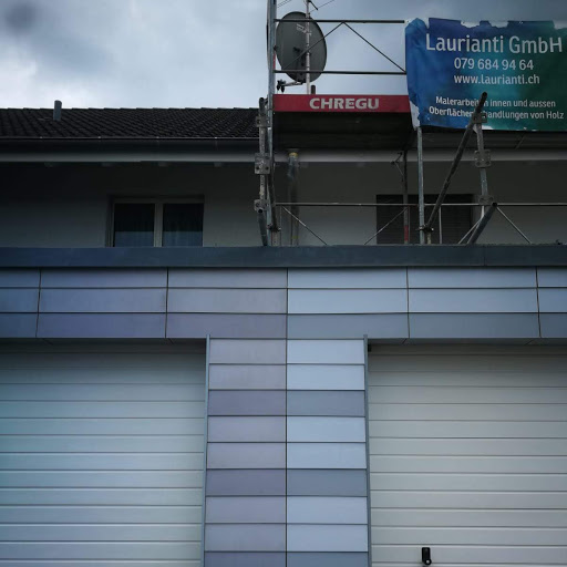 Fassaden- und Eternit- Renovation. Vorher - Nachher, Maler Laurianti in Oberentfelden
