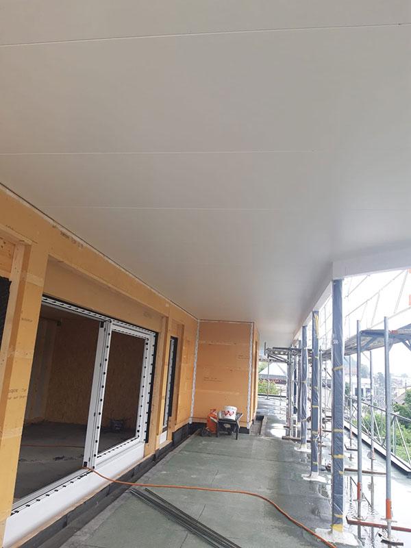 Neubau Attikawohnungen, Nordweg, Schöftland. Komplette Malerarbeiten Terrasse und Innenräume - Maler Laurianti in Oberentfelden